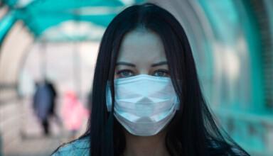 covid 19 koronawirus kobieta w masce